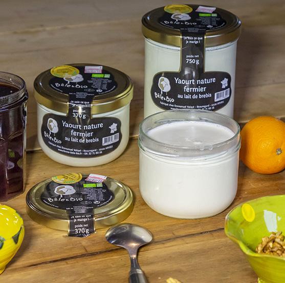 yaourts de brebis bio de la ferme Bêle&bio